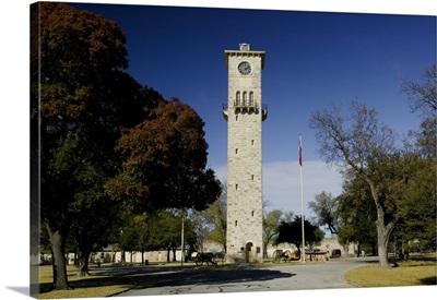 Low angle view of a clock tower, Fort Sam Houston, San Antonio, Texas