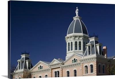 Low angle view of a courthouse, Presidio County Courthouse, Marfa, Texas