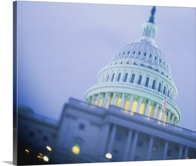 Low angle view of a government building, Capitol Building, Washington DC