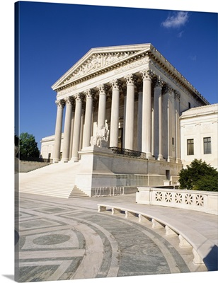 Low angle view of a government building, US Supreme Court Building, Washington DC