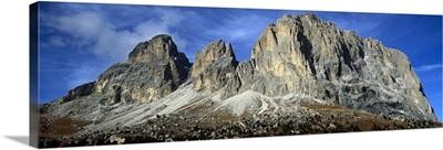 Low angle view of a mountain, Passo Sella, Dolomites, Trento, Italy