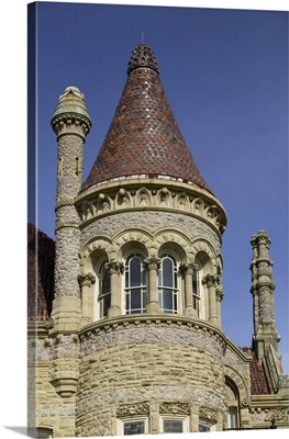Low angle view of a palace, Bishops Palace, Greshams Castle, Galveston, Texas
