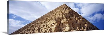Low angle view of a pyramid, Great Pyramid, Giza, Cairo, Egypt