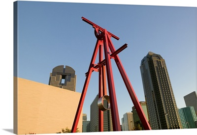 Low angle view of a sculpture, Dallas, Texas
