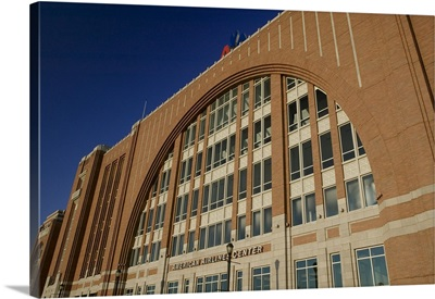 Low angle view of a stadium, American Airlines Center, Dallas, Texas