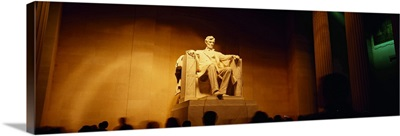 Low angle view of a statue, Lincoln Memorial, Washington DC