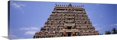 Low angle view of a temple, Chidambaram Temple, Chidambaram, Cuddalore District, Tamil Nadu, India