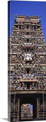 Low angle view of a temple, Sri Karpagambal Temple, Mylapore, Chennai, Tamil Nadu, India