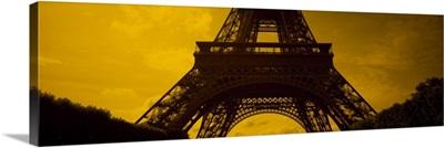Low angle view of a tower, Eiffel Tower, Champ De Mars, Paris, Ile De France, France