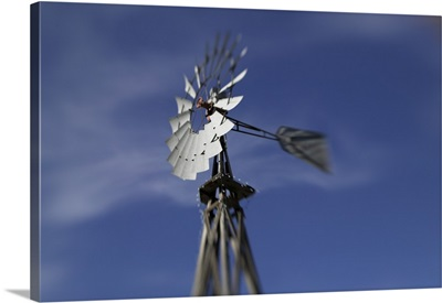 Low angle view of an industrial windmill, Grapevine, Texas