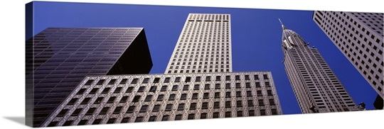 Low angle view of buildings, New York City, New York State
