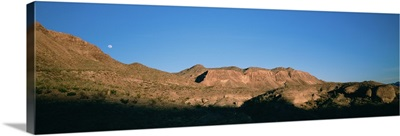 Low angle view of mountains, Big Bend National Park, Texas