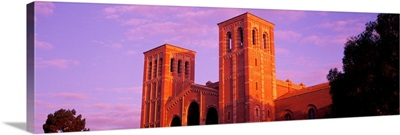 Low angle view of Royce Hall at university campus, UCLA, California