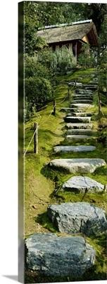 Low angle view of steps leading to a villa, Katsura Imperial Villa, Kyoto, Japan