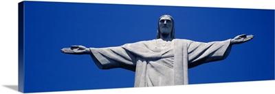 Low angle view of the Christ the Redeemer statue, Corcovado, Rio de Janeiro, Brazil