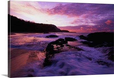 Lumahai Beach at Sunset HI