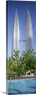 Malaysia, Kuala Lumpur, View of Petronas Twin Towers