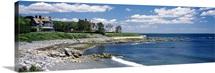 Mansion at a coastline, Newport, Newport County, Rhode Island