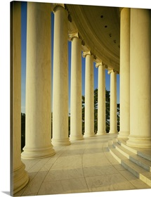 Marble floor and columns, Jefferson Memorial, Washington DC