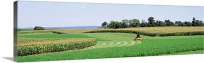 Maryland, Frederick County, farm, harvesting