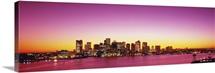 Massachusetts, Boston, sunset