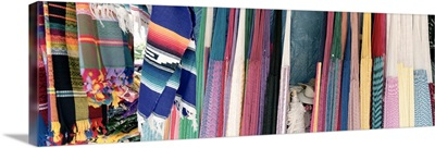 Mexico, Quintana Roo, Akumal, Hammocks and blankets