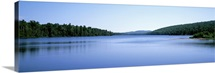 Michigan, Upper Peninsula, Copper Harbor, Silhouette of Lake Superior