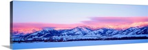 Montana, Bozeman, Bridger Mountains, sunset