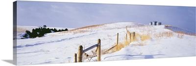 Montana, farm, winter