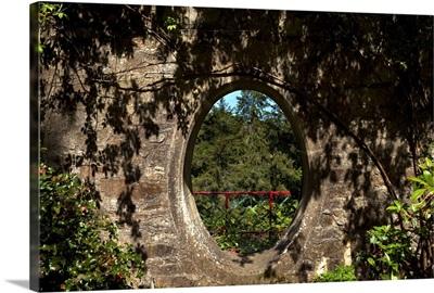 Moon Window in a Stone Wall Near Kilmeaden, County Waterford, Ireland
