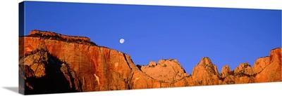 Moonrise Zion National Park UT