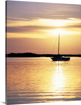 Moored Boat at Sunset Florida Keys FL