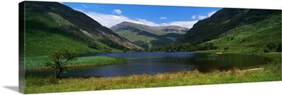Mountain landscape with lake, Ireland
