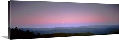 Mountains at dusk, Great Smoky Mountains, Great Smoky Mountains National Park, North Carolina