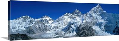 Mt Chungsi Mt Everest Mt Nuptsi Himalaya Mountains Khumbu Region Nepal