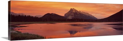 Mt Rundle & Vermillion Lakes Banff National Park Alberta Canada