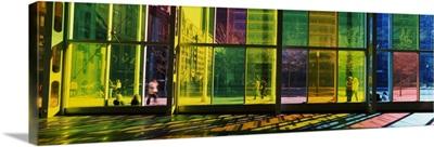 Multi colored glass in a convention center Palais De Congres De Montreal Montreal Quebec Canada