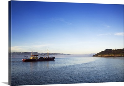 Mussel Boat at Dawn, Arthurstown, Waterford Harbour, Co Waterford, Ireland