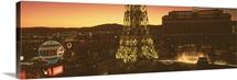 Nevada, Las Vegas, High angle view of a city
