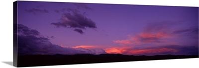 New Mexico, Pojaque, sunset