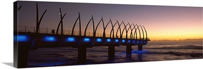 New pier constructed on beach front Umhlanga Durban KwaZulu Natal South Africa