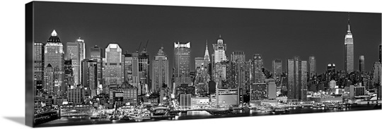 Panoramic Wall Art new york, new york city, panoramic view of the west side skyline