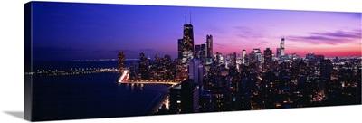 Night, Cityscape, Chicago, Illinois