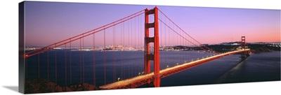 Night Golden Gate Bridge San Francisco CA