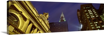 Night Grand Central Station & Chrysler Buildng NY