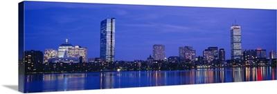 Night, Skyline, Back Bay, Boston, Massachusetts