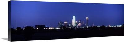 Night Skyline Dallas TX