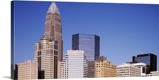 North Carolina, Charlotte, Low angle view of skyscrapers
