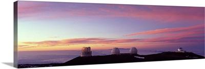 Observatories on a hill, Mauna Kea, Hawaii