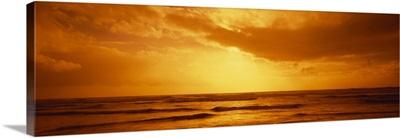 Ocean at dusk, Pacific Ocean, California